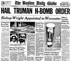 harry s truman and the announcement of the dropping of an atomic bomb on hiroshima Atomic bomb essays  harry s truman assumed the  president truman's announcement of dropping of an atomic bomb on hiroshima marked an important point in.